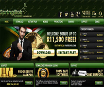 Springbok Casino accepts deposits in Rands directly from SA Local Bank Accounts and ewallets
